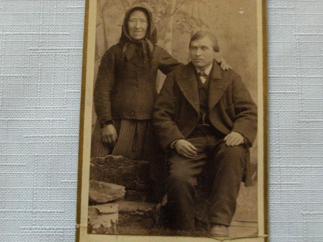 CDV Portrait  of an Older Couple