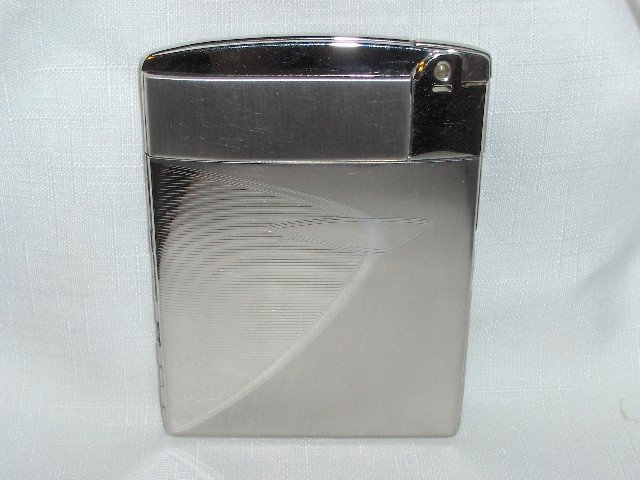 Ronson ESCORT Cigarette Lighter/Case Combo