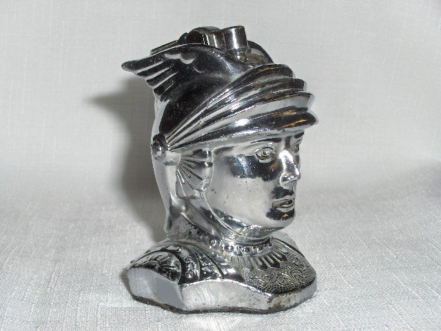 Winged Helmet Figural Table Lighter