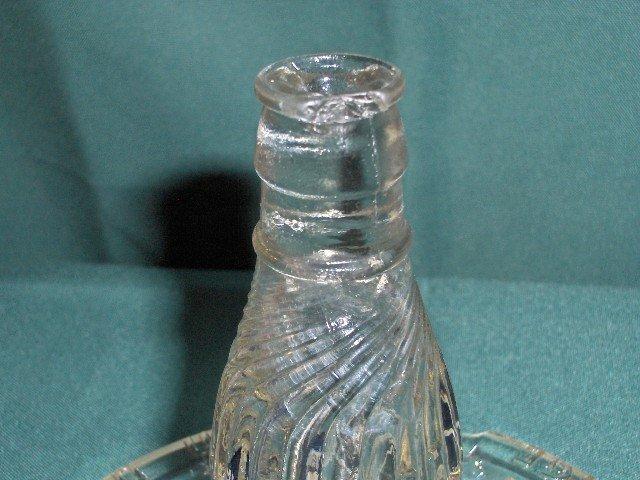 Mission Orange Figural Glass Ashtray