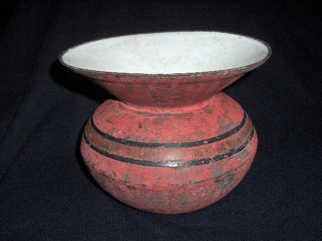 19C Cast Iron Spittoon