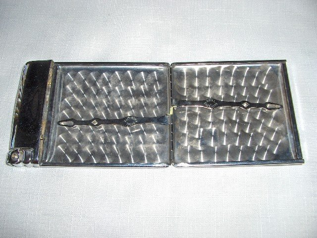 Ronson Chrome Royal-Case-Lite Lighter/Case