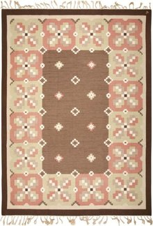 Vintage Swedish Kilim #45655