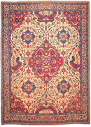 Antique Persian Kerman Rug  / Carpet # 1817