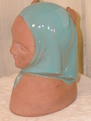 Catalina Pottery  Girl wtih Blue Kerchief