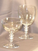 20 Hawkes Goblets and Champagne Saucers