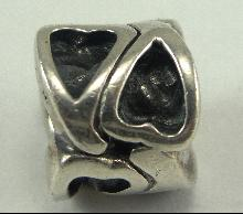 Chamilia Sterling Silver Charm Melt My Heart #GA-74 Hearts Look Melted