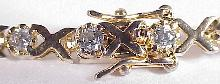 Gold Sterling Silver Vermeil Cubic Zirconia Bracelet