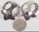 Sterling Silver Amethyst Stones Post Pierced Earrings