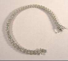 Sterling Silver Bracelet Tennis Style CZ 7-1/2