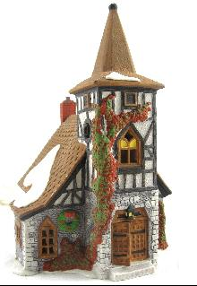 "Dickens' Village ""Old Michael's Church"" #5562-0 Department 56 Retired In 1996"