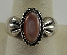 Carolyn Pollack Sterling Silver Pink MOP Twist Rope Ring South Western Size 10