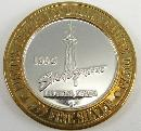 Stratosphere Limited Edition $10 Gaming Token 1996 Grand Opening Fine Silver