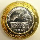 Stratosphere Limited Edition $10 Gaming Token Year 2000 Millennium Fine Silver