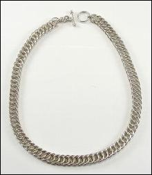 Sterling Silver Necklace Chain Double Link Rectangular