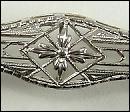 Antique Art Deco14K White Gold Pin Brooch Circa 1910