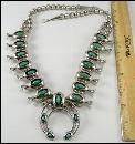 Sterling Necklace Squash Blossom Southwestern Turquoise