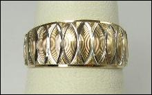 10K Yellow Gold Ring Band Sparkle Cut