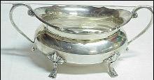 Vintage Robinson & Co Sterling Silver Sugar Bowl