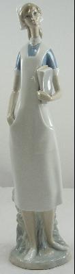 Authentic Lladro Porcelain Figurine Nurse #4603 Medicine Professional Large