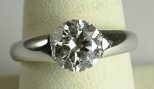 Sterling Silver Ring CZ Solitaire Engagement-Promise 8
