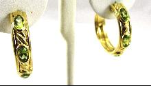 David Yurman 18 karat Gold Earrings Peridot