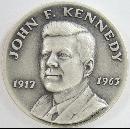 Danbury Mint Sterling John F. Kennedy 1973 Presidential Commorative Medal 1 1/2