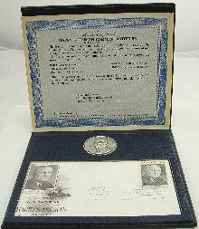 Danbury Mint Sterling Harry S. Truman 1973 Presidential Commemorative Medal 1 1/2