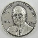 Danbury Mint Sterling Harry S. Truman 1973 Presidential Commemorative Medal 1 1/2