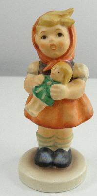 "Goebel Hummel Figurine 239/B Girl With Doll 3.5"" TMK 6 Missing Bee Mark"