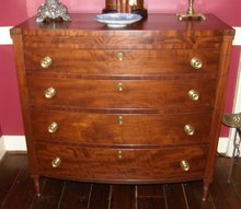 Mahogany Bow Front Chest