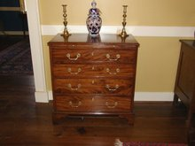 Solid Mahogany Chippendale Bachelor's Chest