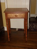 Cherry One Drawer End Table with Bird's Eye Maple Drawer Front