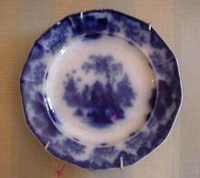 8 1/2 Flow Blue Plate