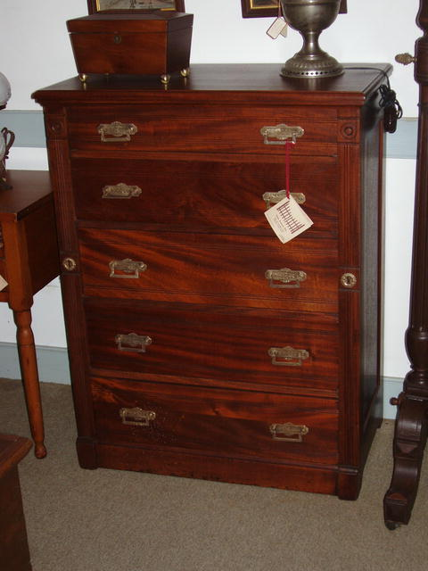 Mahogany Five Drawer Chest