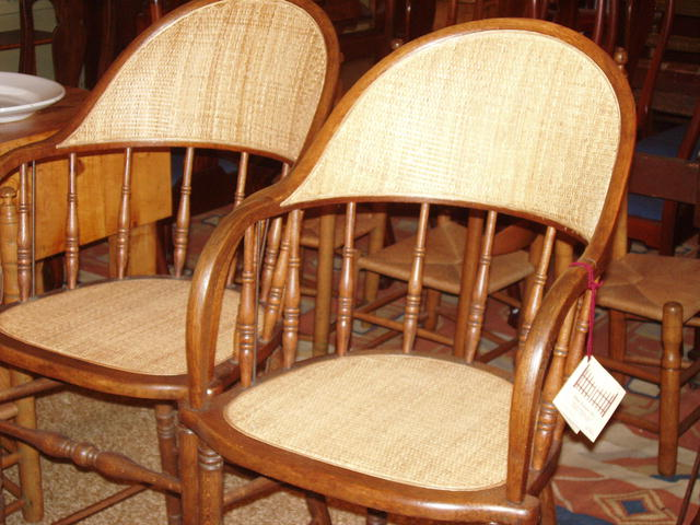 Pair of Oak Spectator or Pool Parlor Chairs