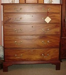 Graduated Five Drawer Chippendale Chest