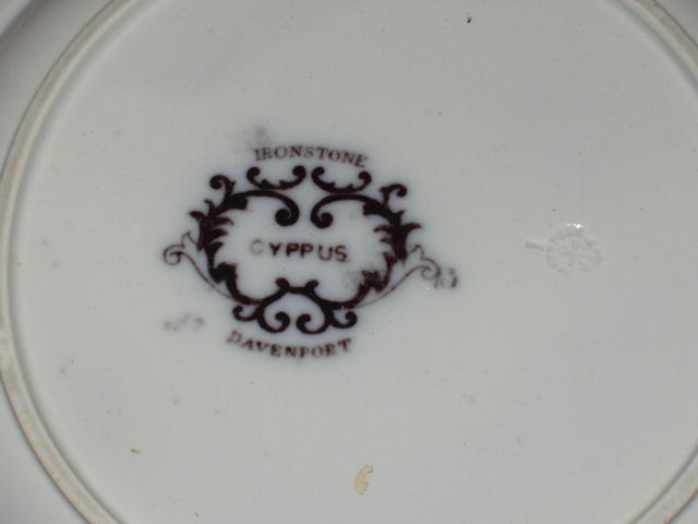Amethyst Ironstone Plate