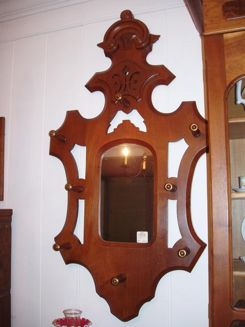 Mirror and Coat Rack