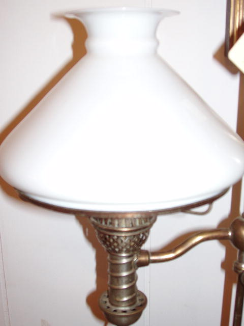 Nickle plated Student Lamp