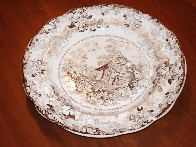 Ironstone Dinner Plates (set of 7)