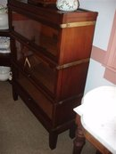Mahogany Three Stack Barrister Bookcase