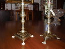 Pair of Spanish Brass Candlesticks