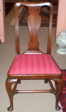 Queen Anne Walnut Chair