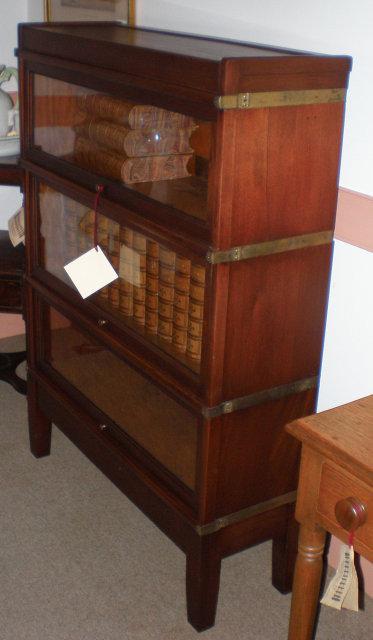 Three Stack Mahogany Barrister Bookcase