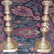 Pair of Bee Hive Candlesticks