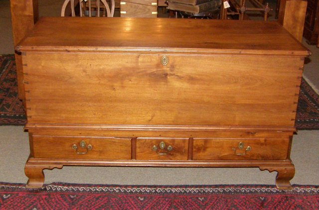Solid Walnut Blanket Chest
