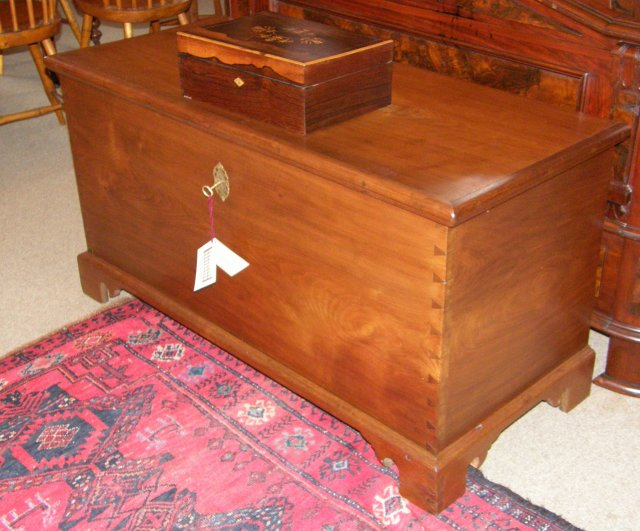Solid Walnut Chippendale Blanket Chest