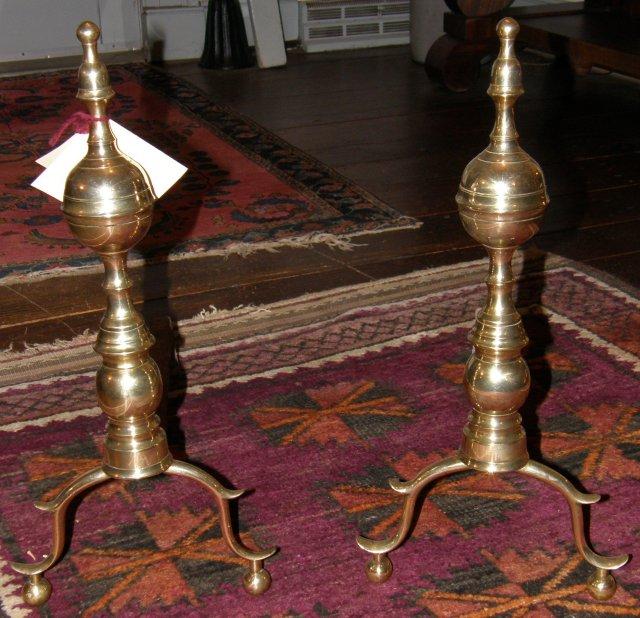 Brass Hepplewhite Andirons