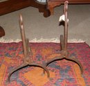 Wrought Iron Andirons